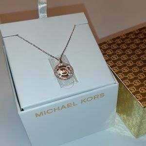 Nwt MK rose gold necklace